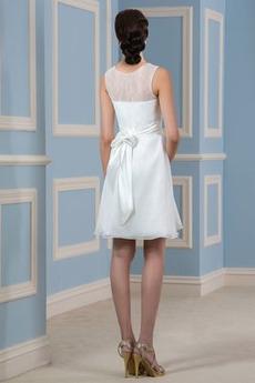 Elegante A Linie Trichter Natürliche Taille Chiffon Hochzeitskleid