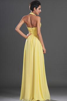 V-Ausschnitt Ärmellos Schöne Sommer Mantel Fegen zug Abendkleid