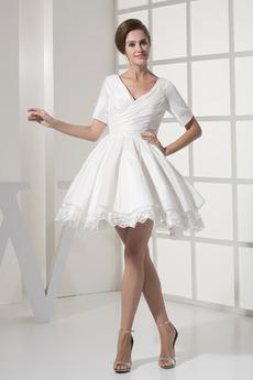 Natürliche Taille Strand T Hemd Trichter Prinzessin Brautkleid