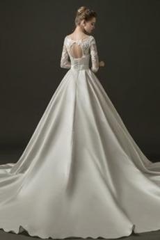 T Hemd Lange Halle Formalen V-Ausschnitt Trichter Brautkleid