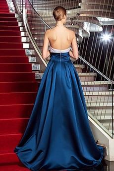 Trägerlos Hoch niedrig Bogen Partei Akzentuierter Bogen Abendkleid