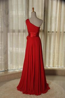 Schärpen Chiffon A Linie Natürliche Taille Einfache Brautjungfer kleid
