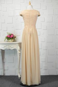 Mit geschlossenen Ärmeln Natürliche Taille Hochzeit Trauzeugin kleid
