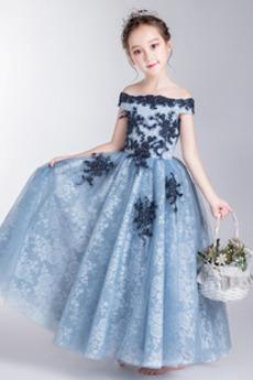 Juwel akzentuiertes Mieder Formalen Kurze Ärmel Blumenmädchen kleid