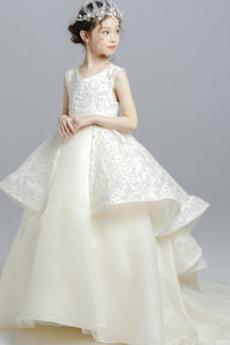 Schaukel Reißverschluss Trichter Jahrgang Kleine Mädchen Kleid