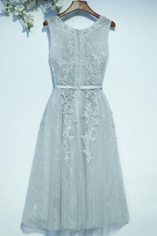 Ärmellos Elegante Natürliche Taille Sommer Brautjungfernkleid