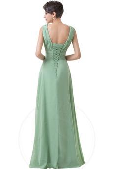 V-Ausschnitt Elegante Gefaltete Mieder Minze Brautjungfer kleid