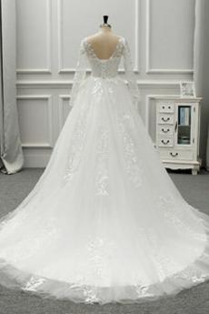 Drapiert Natürliche Taille Kathedrale Zug Rückenlose Brautkleid