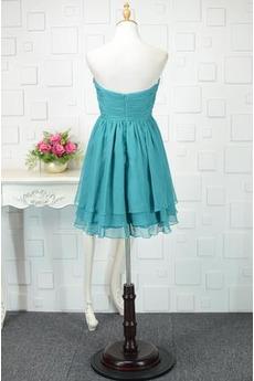 Reißverschluss Natürliche Taille A Linie Chiffon Dreieckfalte Abendkleid