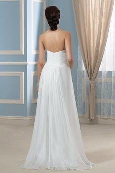 Falten Reißverschluss Schatz Ärmellos einfache Reich Brautkleid