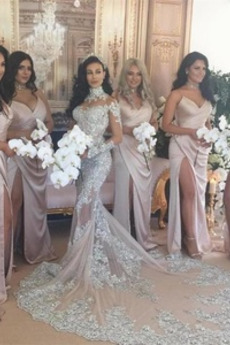 Reißverschluss Veranstaltungsräume Ärmellos Brautjungfernkleid
