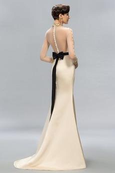 Frenal Satiniert Hochzeit Natürliche Taille Meerjungfrau Abendkleid