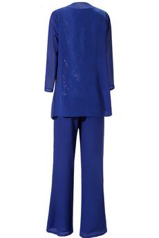 Anzug Veranstaltungsräume Hoch bedeckt T Hemd Chiffon Mutter kleid