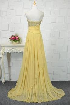 Ärmellos Lehnenlose A Linie Lange Tanzparty Natürliche Taille Abendkleid