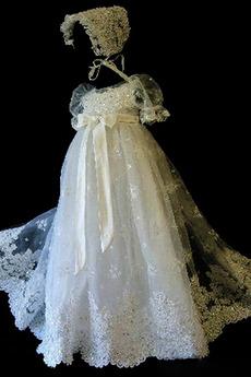 Bogen Trichter Lange Spitze Zeremonie Laterne Blumenmädchen kleid