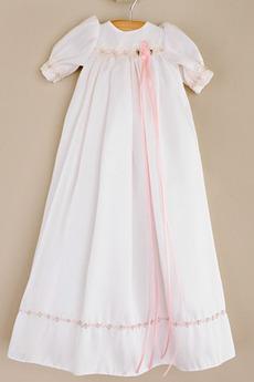Lange Hoch bedeckt Sommer Reich Taille Laterne Blumenmädchen kleid