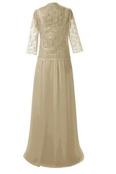 Fegen zug Frühling Kurze Ärmel Anzug Spitze Mutter der Braut Kleid