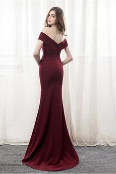 Kurze Ärmel Formalen Natürliche Taille Mit geschlossenen Ärmeln Abendkleid