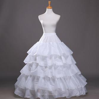 Breite Modisch Zwei bündel Polyester Taft Flouncing Hochzeit Petticoat - Seite 1