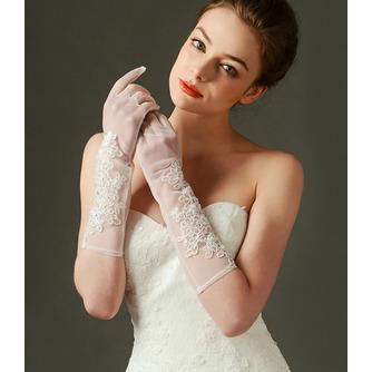 Spitze Transluzent Lange Sexy Schatten Volle finger Hochzeit Handschuhe - Seite 2