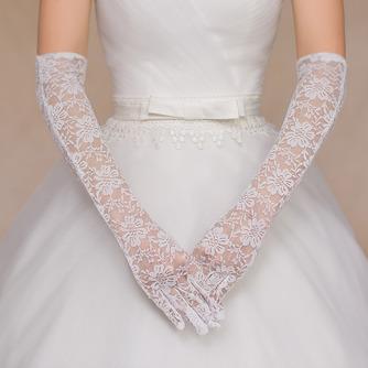 Spitze Volle finger Herbst Rot Formell Spitze Hochzeit Handschuhe - Seite 1