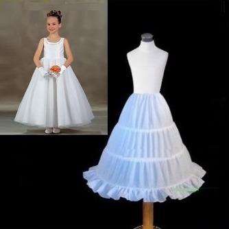 Einfach Elastische Taille Drei Felgen Kinder Kleid Hochzeit Petticoat - Seite 1