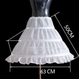 Einfach Elastische Taille Drei Felgen Kinder Kleid Hochzeit Petticoat - Seite 2