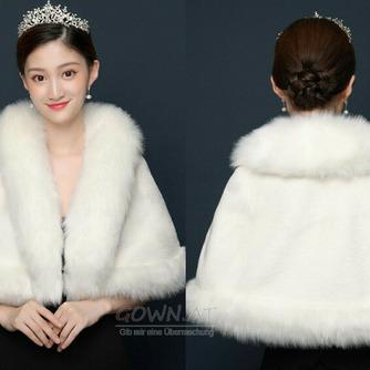 Warmer weißer Schal-Hochzeitsmantel der Winterbraut - Seite 2