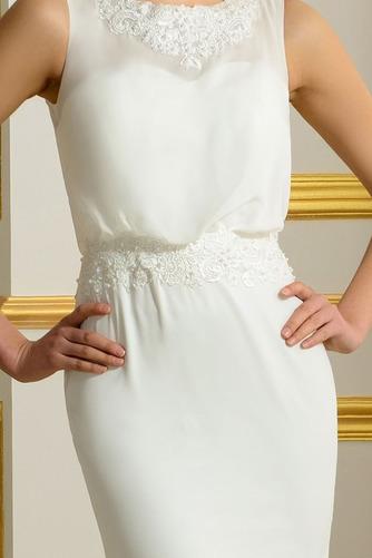 Ärmellos Romantisch Natürliche Taille Appliques Mantel Brautkleid - Seite 4