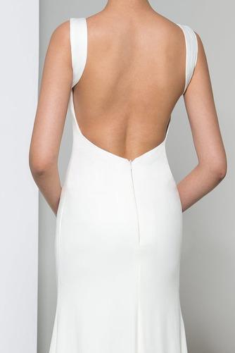 Frenal Ärmellos Natürliche Taille Fegen zug Hochzeit Abendkleid - Seite 5