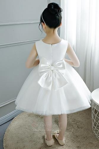 A Linie Tüll Juwel Reißverschluss Natürliche Taille Kleine Mädchen Kleid - Seite 2