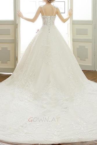 Natürliche Taille Ärmellos Königlicher Zug Spitze Brautkleid - Seite 2
