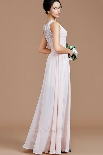 Sommer Natürliche Taille Reißverschluss Ärmellos Brautjungfernkleid - Seite 4