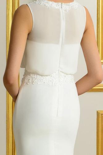 Ärmellos Romantisch Natürliche Taille Appliques Mantel Brautkleid - Seite 5