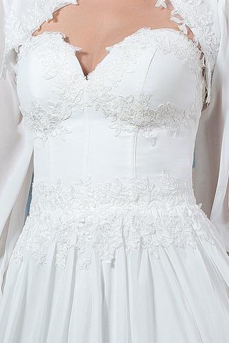 Lange Ärmel Draussen Natürliche Taille Spitzenbesatz Brautkleid - Seite 6