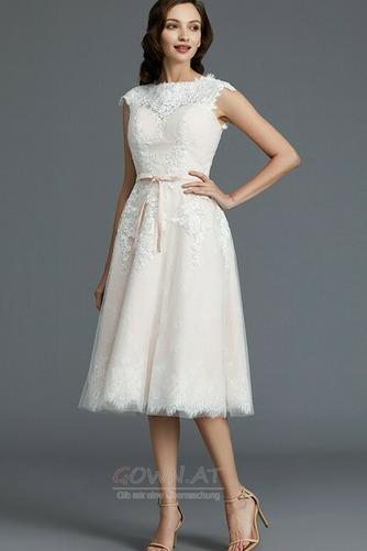 Spitzenüberlagerung Juwel Strand Glamourös Sommer Hochzeitskleid - Seite 4