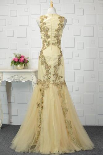 Mehrschichtig Fallen Trichter Breite Riemen Hochzeit Abendkleid - Seite 3