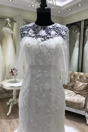 Ärmellos Halle Trichter Fiel Taille Appliques Klassische Brautkleid - Seite 4