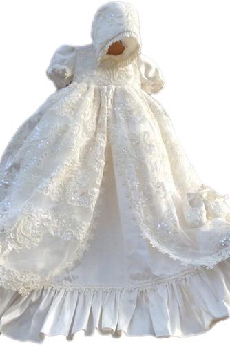 Kurze Ärmel Prinzessin Juwel Zeremonie Spitze Kappe Baby kleid - Seite 1