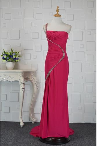 Asymmetrisch Rückenfrei Trichter Chiffon Elegante Abendkleid - Seite 1