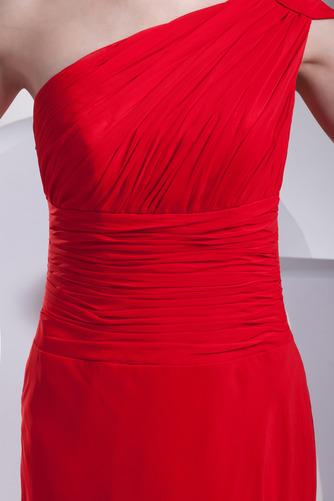Trichter Chiffon A Linie Eine Schulter Länge des Bodens Einfache Abendkleid - Seite 5