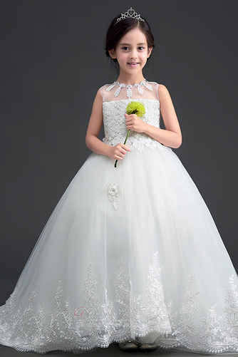 Bow Trichter Spitze Spitzenüberlagerung Kleine Mädchen Kleid - Seite 1