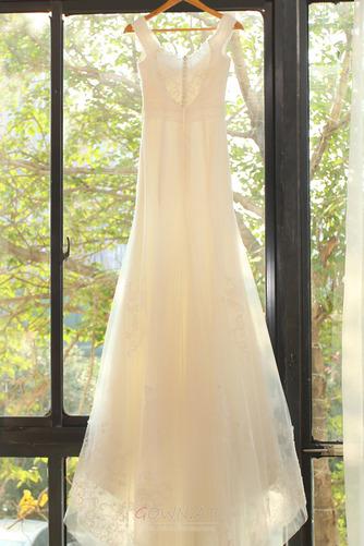Lange Zierlich Natürliche Taille Mit geschlossenen Ärmeln Spitze Brautkleid - Seite 8