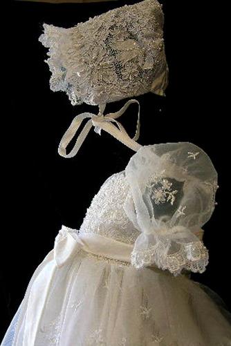 Bogen Trichter Lange Spitze Zeremonie Laterne Blumenmädchen kleid - Seite 3