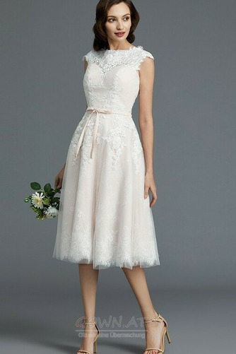 Spitzenüberlagerung Juwel Strand Glamourös Sommer Hochzeitskleid - Seite 3