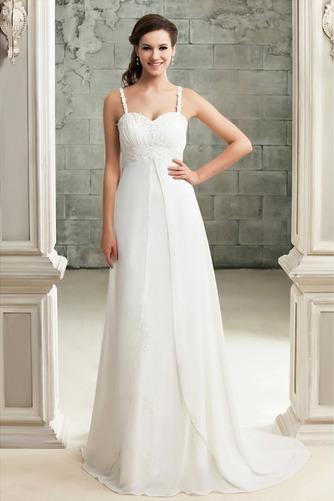 Drapiert Reich Taille Spitze Elegante Reißverschluss Brautkleid - Seite 1