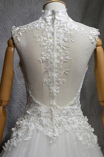 Klassisch Natürliche Taille Spitze Mehrschichtig Draussen Brautkleid - Seite 5