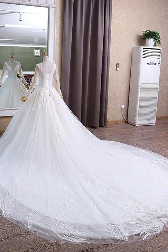 Königlicher Zug Natürliche Taille Trichter Klassische Brautkleid - Seite 2