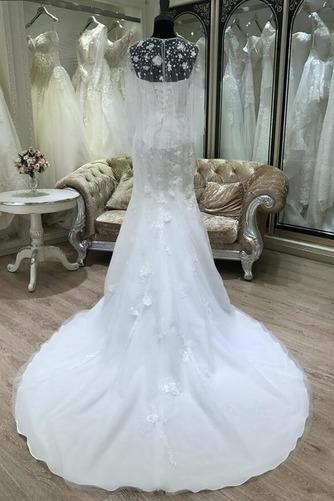 Ärmellos Halle Trichter Fiel Taille Appliques Klassische Brautkleid - Seite 3