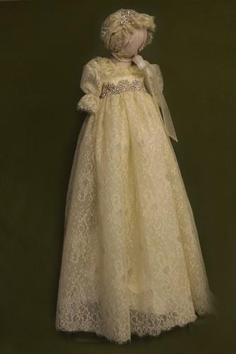 Prinzessin hoch gedeckt Spitze Lange Spitze Blumenmädchen kleid - Seite 1